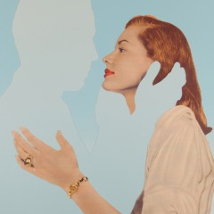 Joe-webb-Absent-Minded-Urban-Art-Pop-woman-collage-kiss-blue