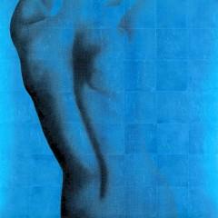 Sarah Scotchman-Art-All-That-Glitters-No.21-Blue-art-nude-figuritive-silver-metal-leaf-limited-edition-print-silkscreen