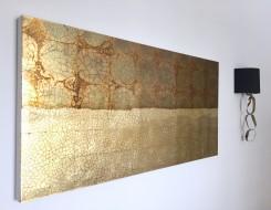 Gold Panel Art, Dining Room Art