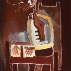 oil painting picasso style cubist portrait