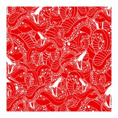red-snakes-pop art-mosaic art