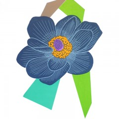 turner-barnes-gallery-kate-heiss-floral-art-prints-anemone-lime-turquoise