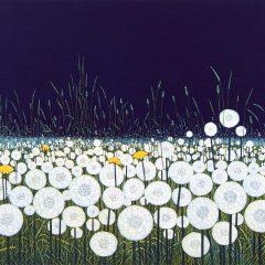 phil-greenwood-art-floral-art-blue-green-fields-flowers-dream-clocks