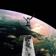 Joe-Webb-Giant-Leap-art-urban-earth-planet-space-spring-board-swimming-boy--diving-limited-edition-print-artists-proof