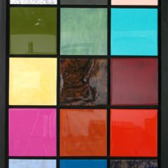 Sean-Hill-Calculated-Colours-Acrylic-metal-leaf-Resin-abstract-art-squares-blocks-bold-veneer