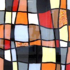 Sean-Hill-polysgon-Acrylic-metal-leaf-Resin-abstract-art-squares-blocks-bold