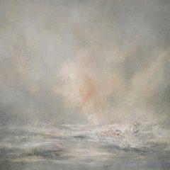 Adrian Walker oil on canvas Hellisandur original art painting abstract landscape