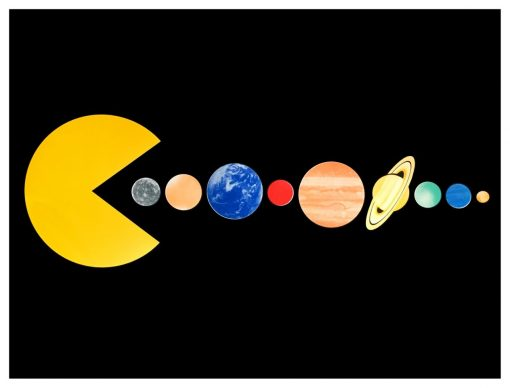 joe-webb-one-day-the-sun-will-kill-us-all-silkscreen-limited-edition-print-pacman-planets-space-earth