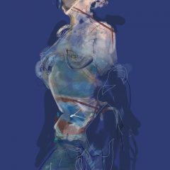 judith brenner ipad digital print art female nude ii limited edition blue
