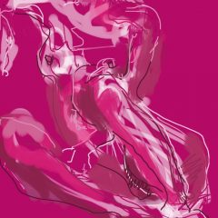 judith brenner ipad digital print art female nude iv limited edition pink