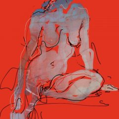 judith brenner ipad digital print art female nude iv limited edition red
