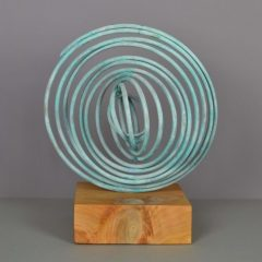 mark-beattie-verdigris-spiral-weathered-copper-oak-base-art-sculpture