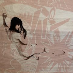Gavin Mitchell manga VIII mixed media japanese nude cartoon background
