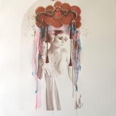 Rosie Emerson-Venus-No.3-portrait-charcoal-silkscreen-screenprint-limited-edition-print