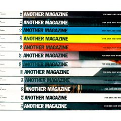 'Another Magazine' by Mark Vessey. Photographic art of a stack of Another Magazines