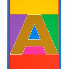 sir-peter-blake-pop-art-DAZZLE-alphabet-letter-set-A