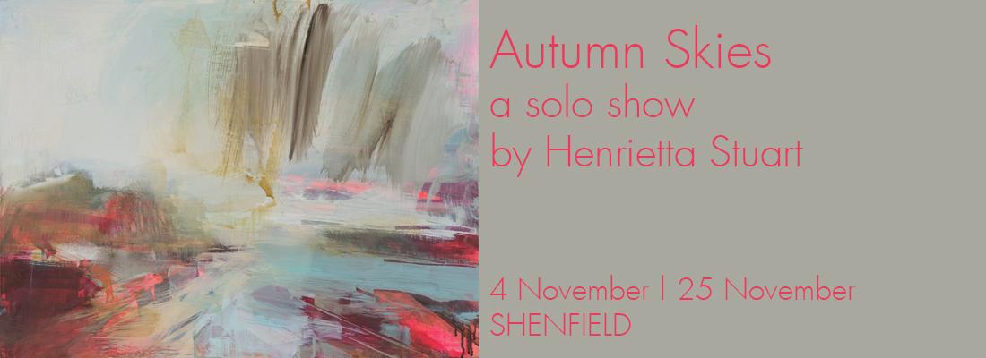 Henrietta Stuart Exhibition, Abstract paintings of skies, Turner Branes Gallery, Essex