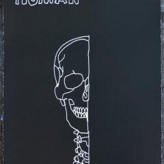Dan Baldwin Human Limited Edition screenprint of black and white skull