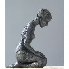 Carol Peace limited edition iron resin sculpture 'Kneeling Figure'