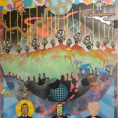 Adam Green Tonight's Performance At The Apocalypse Club original art acrylic on canvas