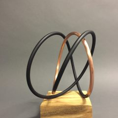 Mark Beattie Turner Barnes Gallery Sculpture Copper & Black Spiral