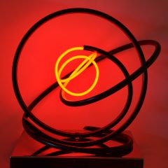 Mark Beattie Turner Barnes Gallery Sculpture Red Neon Orb