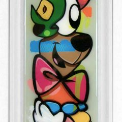 Lhouette Turner Barnes Gallery Original Art Acrylic Aerosol Pop Parts Green
