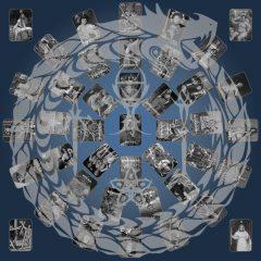 Brad Faine Limited Edition Print On Canvas Doors Of Perception - Dark Blue & Grey