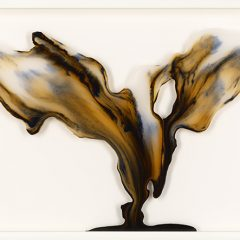 Jake Oliver Fishman Original Ink Pigment and Acrylic Lacquer on Glass Descent