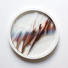 Jake Oliver Fishman Original Ink Pigment and Acrylic Lacquer on Glass Today III