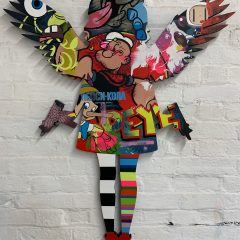 Turner Barnes Gallery Lhouette Original Acrylic and Aerosol on Wood with High Gloss Resin Angel Cake - Popeye