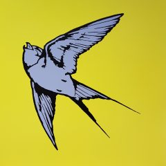 Dan Baldwin Limited Edition print Love And Light (Yellow Blue)