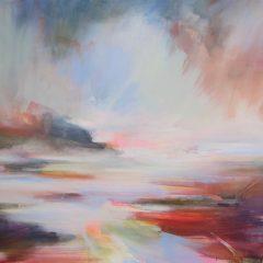 Henrietta Stuart abstract landscape oil painting Soft Summer Lights