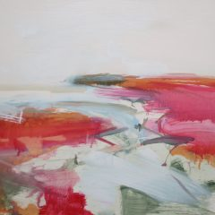 Henrietta Stuart abstract landscape oil painting Summer Estuary