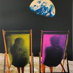 Joe Webb Limited Edition print Wish You Were Here (Green/Pink)
