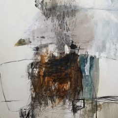 Natasha Barnes Original Abstract Art on Paper At The End Of The Road