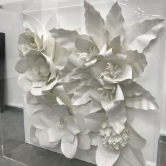 3D Paper Cut Floral Art in Acrylic Box