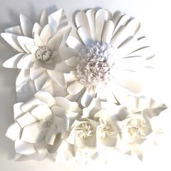 Chloe Natalia Close Up Detail of Flower Paper Cut Sculpture
