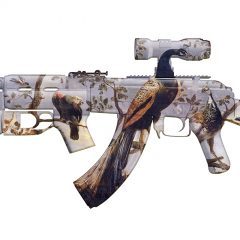 Limited edition by Magnus Gjoen AK-47 birds and nature gun