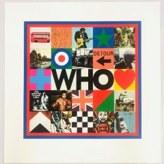 The Who is a limited edition print on silkscreen by Peter Blake The Who album cover artwork