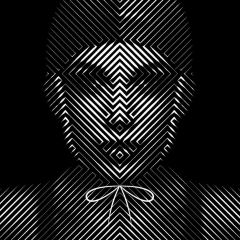 Digital art by Tim Christie Black and White woman
