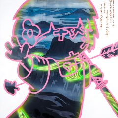 An original by urban artist Tom Lewis Grafitti style