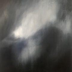Contemporary art by Gareth Hayward Dark Storm mysterious bright white