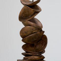 Limited edition dark bronze resin and bronze sculpture