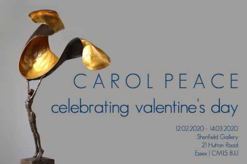 A solo valentine's show by sculptist, Carol Peace