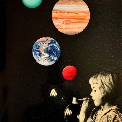 Silkscreen and glitter varnish on paper limited edition print by Joe Webb