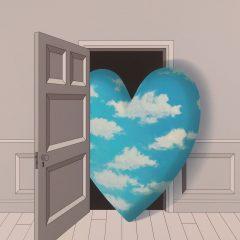 Limited edition silkscreen heart print