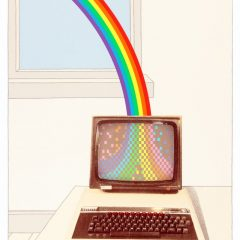 Limited edition silkscreen rainbow print