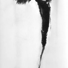 Charcoal & black glitter figurative piece of Brigitte Bardot