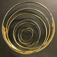 Original nickel & gold plated copper sculpture
